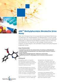Specialty Diagnostix ARK Methylphenidate Metabolite Urine Assay