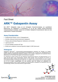 Specialty Diagnostix ARK Gabapentin Assay