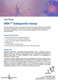 Specialty Diagnostix ARK Gabapentin Assay