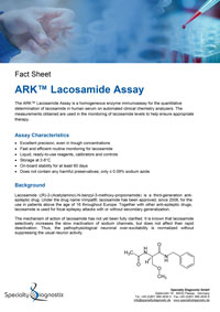 Specialty Diagnostix ARK Lacosamide Assay