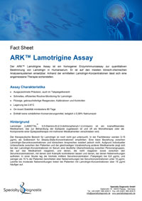 Specialty Diagnostix ARK Lamotrigine Assay