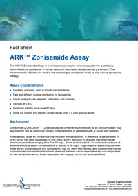 Specialty Diagnostix ARK Zonisamide Assay
